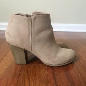 Old Navy Tan Ankle Booties